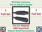 MC3 1 SET SOLAR PANEL EXTENSION WIRE 1 MC3 CONNECTOR TUV RATED MC3